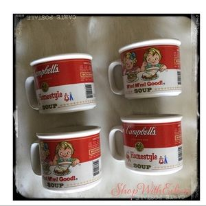 Campbell's Set Of 4 Soup Mugs Collectible
